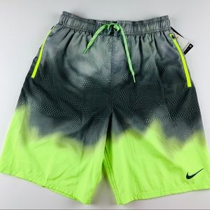 Nike Men's Swim Trunks Gray Yellow